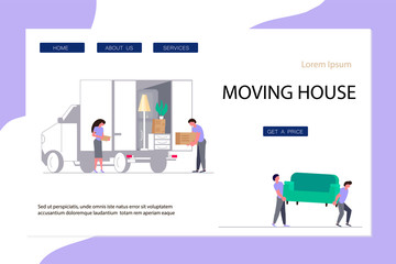 Moving Home and office Concept for Website