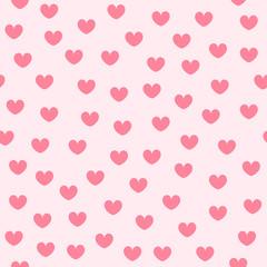 Heart background. Seamless vector pattern