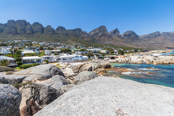 Bakoven beach, twelve apostels view sunny day, Cape Town