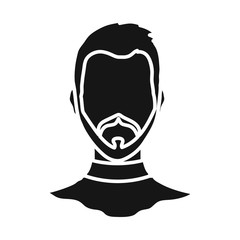 Vector illustration of avatar and dummy logo. Set of avatar and image stock symbol for web.