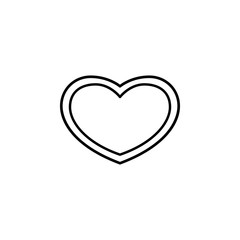 heart inside heart icon. Element of Valentine's Day icon for mobile concept and web apps. Detailed heart inside heart icon can be used for web and mobile