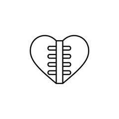 heart transplants icon. Element of Valentine's Day icon for mobile concept and web apps. Detailed heart transplants icon can be used for web and mobile