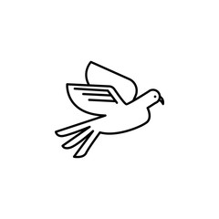 funeral, dove icon. Element of death icon for mobile concept and web apps. Detailed funeral, dove icon can be used for web and mobile
