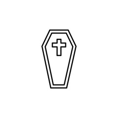 funeral, coffin icon. Element of death icon for mobile concept and web apps. Detailed funeral, coffin icon can be used for web and mobile