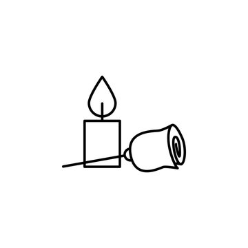 funeral, flower, candle icon. Element of death icon for mobile concept and web apps. Detailed funeral, flower, candle icon can be used for web and mobile