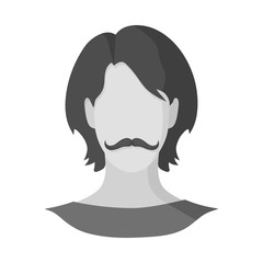 Vector illustration of avatar and dummy icon. Collection of avatar and image stock vector illustration.