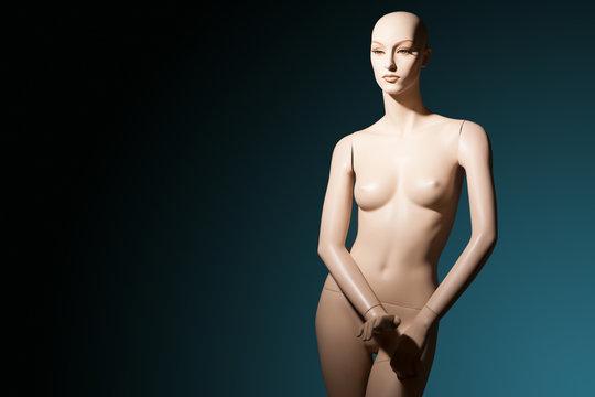 Dummy. Plastic woman. Fashion. Style. Naked mannequin. Woman mannequin Fashion show. Tailoring. Fashion designer. Studio.