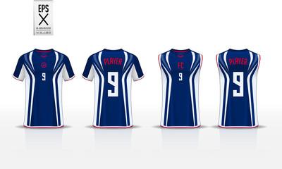 95168e51b Blue T-shirt sport template design for soccer jersey