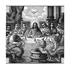 The Last Supper. Jesus Christ with the apostles. By ruskpp
