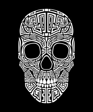 skull head tribal art