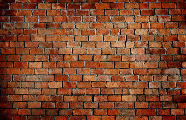 Old textured brick wall background