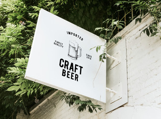 Photo sur Aluminium Biere, Cidre Imported craft beer board mockup