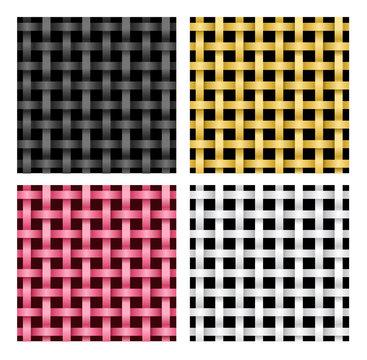 Seamless weave rattan pattern, vector
