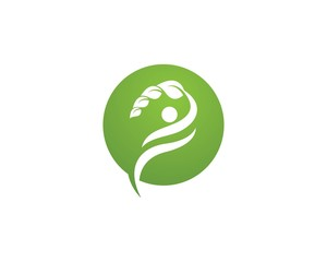 Healthy Leaf Logo Template Vector