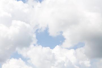 Keuken foto achterwand Hemel White clouds on the sky.