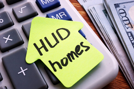 HUD homes written on a piece of paper.