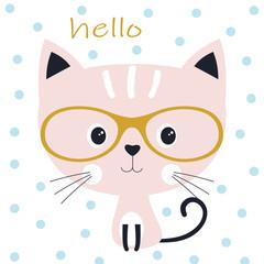 cute cat in the glasses
