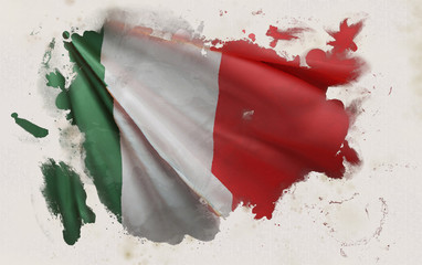 Italian Flag, Italy National Colors Background  <<3D Rendering>>