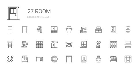 room icons set