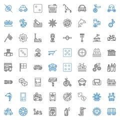 wheel icons set