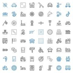 wheel icons set