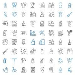 spray icons set