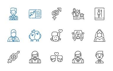 couple icons set