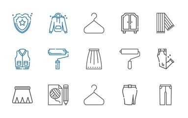 coat icons set