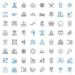 sea icons set