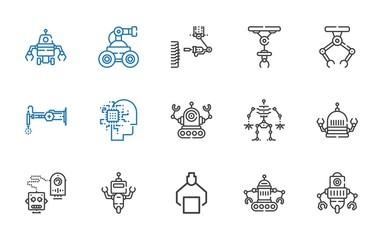 cyborg icons set