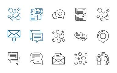 dialog icons set