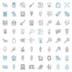 stick icons set