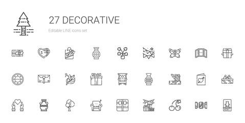 decorative icons set
