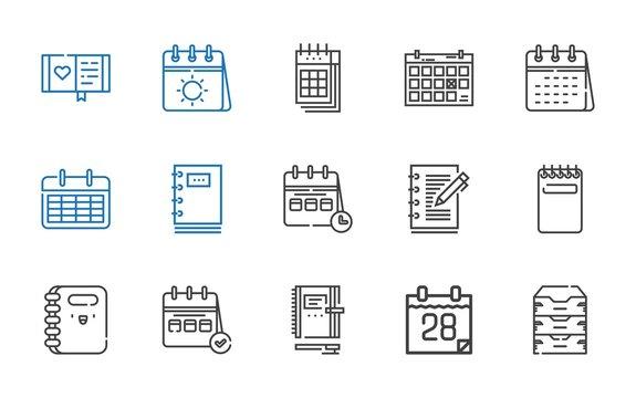 organizer icons set