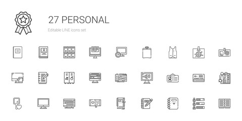 personal icons set