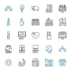 drawing icons set