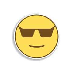 cool in sunglasses colored emoji sticker icon. Element of emoji for mobile concept and web apps illustration.