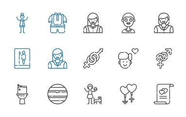 gender icons set