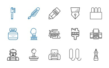 ink icons set