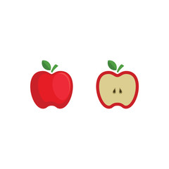 Cute Character Apple Fresh Vector illustration design