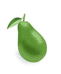 Whole green avocado