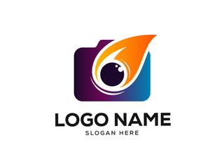 Photography Logo Design Concept, Camera Logo Designs Vector