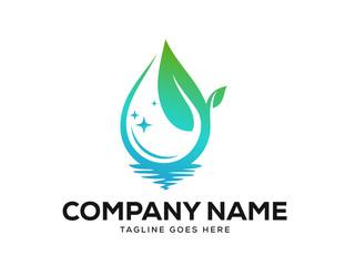 Clean Logo Designs Template Vector, Eco Friendly Logo Designs Concept Wall mural