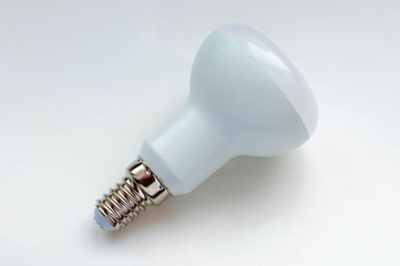 fluorescent lamp on a white background