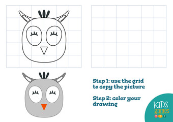 Copy and color picture vector illustration, exercise.