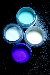 Acrylic nail decoration powder
