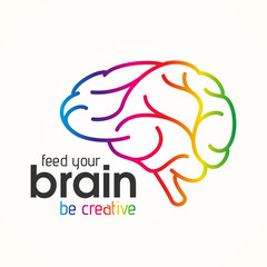 Feed your brain, be creative icon