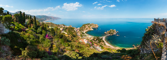 Taormina view from up, Sicily Fototapete