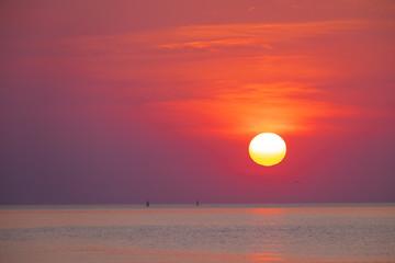 Beautiful sunset on the sea, Thailand