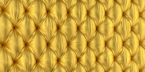 golden 3d tufted background
